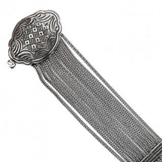 Savati Sterling Silver Multi Chain Byzantine Bracelet
