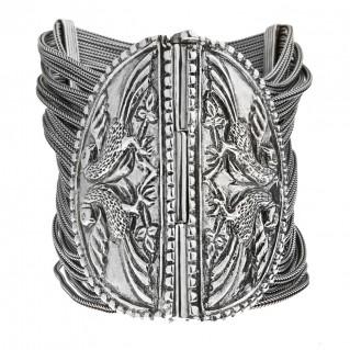 Savati Sterling Silver Multi Chain Large Byzantine-Medieval Bracelet
