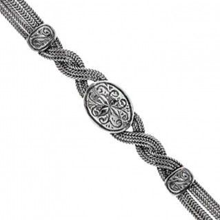 Savati Sterling Silver Multi Chain Twisted Byzantine Bracelet