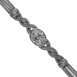 Savati Sterling Silver Multi Chain Twisted Byzantine Bracelet