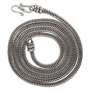 Savati Thick Sterling Silver Snake Chain with S Clasp