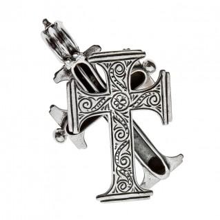 Savati Sterling Silver Byzantine Reliquary Large Cross Pendant