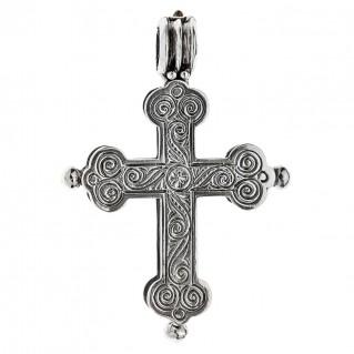 Savati Sterling Silver Byzantine Reliquary Cross Pendant
