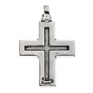Savati Sterling Silver Holy Cross Blessing Orthodox Cross Pendant