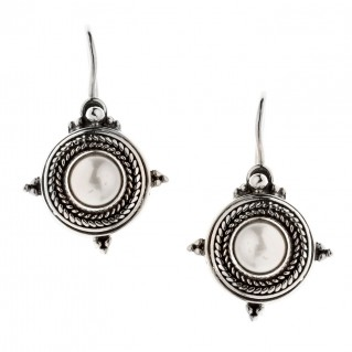 Savati Sterling Silver & Pearls Byzantine Drop Earrings