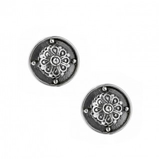 Savati Sterling Silver Rosette Stud Earrings