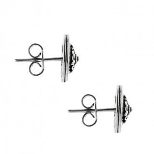 Savati Sterling Silver Rosette Stud Earrings