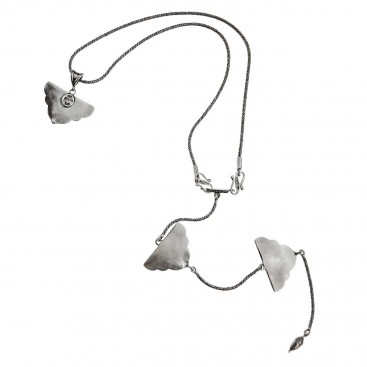 Savati Sterling Silver Statement Back Necklace