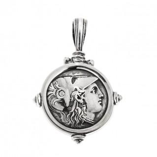 Savati Athena & Nike Stater ~ Sterling Silver Coin Pendant