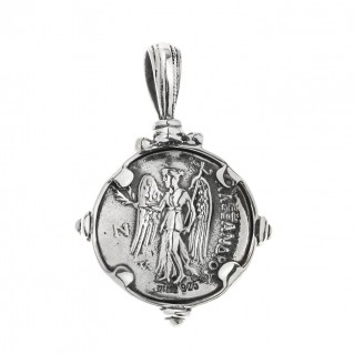 Savati Athena & Nike Stater ~ Sterling Silver Coin Pendant