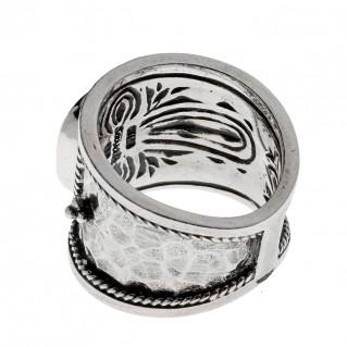 081RI0096_designer_savati_silver_mop_byzantine_wrap_ring 1