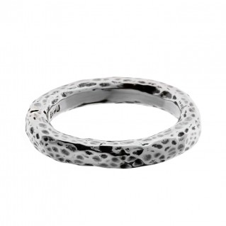 Savati Sterling Silver Byzantine Hammered Band Ring