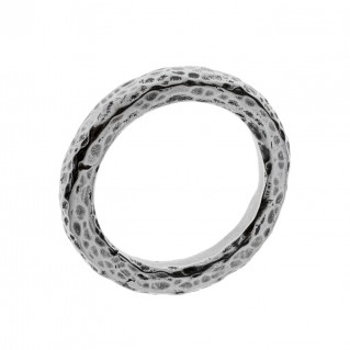 Savati Sterling Silver Byzantine Hammered Band Ring