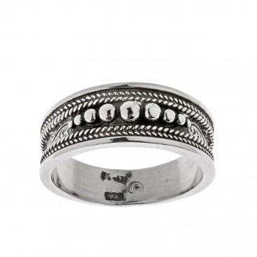 Savati Sterling Silver Byzantine Ornate Band Ring