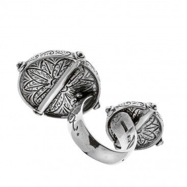 Savati Sterling Silver Large Double Open Ring