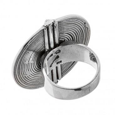 Savati Sterling Silver Large Spiral Ring