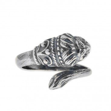Lion's Head ~ Sterling Silver Wrap Ring - Small