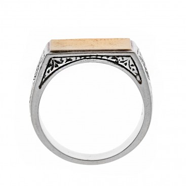 Savati 22K Solid Yellow Gold & Sterling Silver Byzantine Band Ring