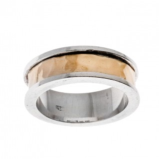 Savati 22K Solid Yellow Gold & Silver Band Ring