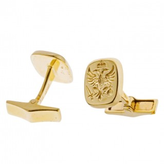 Savati Double Headed Eagle - Byzantine 18K Solid Gold Cufflinks