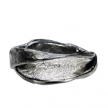Polemis 11-6 - Sterling Silver Two Tone Wrap Ring