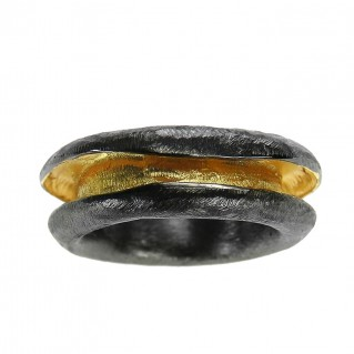 Polemis 11-9 - Sterling & Gold Plated Silver Band Ring