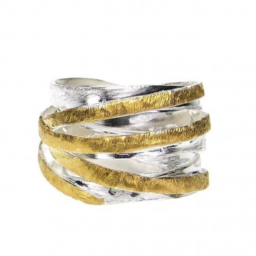Polemis 4-34 - Sterling Silver Wrap Sinuous Ring
