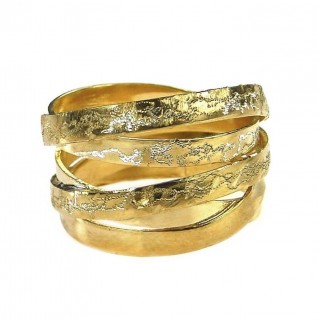Polemis 4-39B - Gold Plated Sterling Silver Wrap Ring