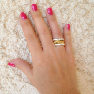Polemis 410 - Sterling Silver Stackable Band Ring