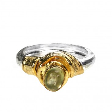 Polemis 514 - Sterling Silver & Stone Solitaire Ring