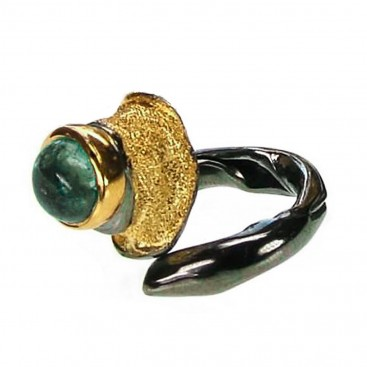 Polemis 601 - Sterling Silver Wrap Ring with Tourmaline