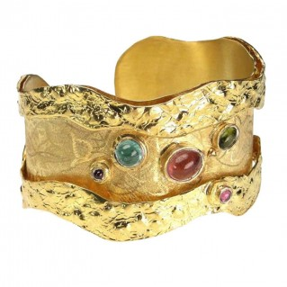 Polemis L44 ~ Gold Plated Sterling Silver Bracelet with Gemstones