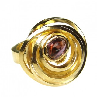 Polemis L172 - Gold Plated Sterling Silver Large Ring