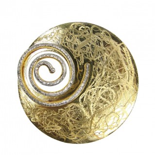 Polemis 174 ~ Sterling & Gold Plated Silver Spiral Pendant