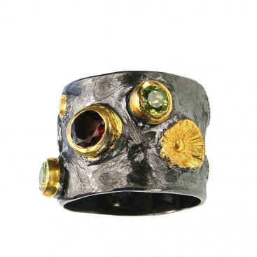 Polemis L181 - Sterling Silver and Gold Plated Silver Ring