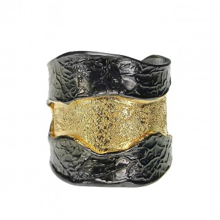 Polemis 36S - Sterling & Gold Plated Silver Wrap Ring