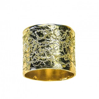Polemis L40 - Gold Plated Sterling Silver Wrap Ring