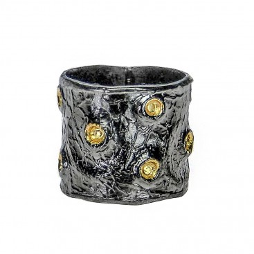 Polemis L41 - Sterling Silver and Gold Plated Silver Ring