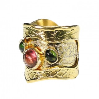 Polemis L42 - Gold Plated Sterling Silver Large Ring