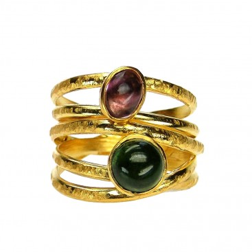 Polemis 11 - Gold Plated Sterling Silver Wrap Ring