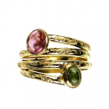 Polemis 18 - Gold Plated Sterling Silver Wrap Ring