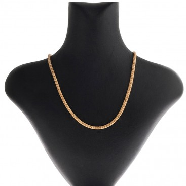 14K Solid Yellow Gold Round Mesh Chain 3.5 mm - Hollow