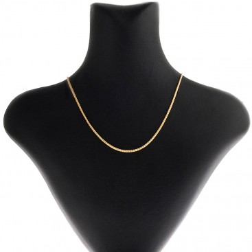 14K Solid Yellow Gold Round Wheat Chain 1.6 mm - Solid