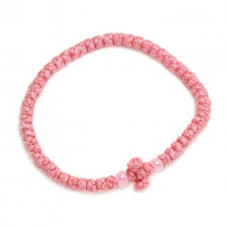 Prayer Rope Bracelet ~ Komboskini ~ Chotki - Pink