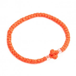 Prayer Rope Bracelet ~ Komboskini ~ Chotki - Vivid Orange