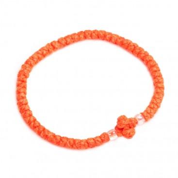 Prayer Rope Bracelet ~ Komboskini ~ Chotki - Vivid Orange