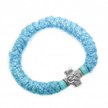 Prayer Rope Bracelet ~ Komboskini ~ Chotki - Light Blue