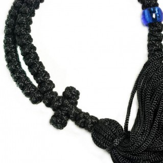 50 Knots Prayer Rope ~ Komboskini ~ Chotki - Black