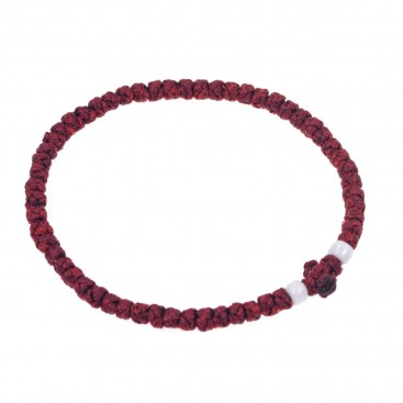 Prayer Rope Bracelet ~ Komboskini ~ Chotki - Burgundy