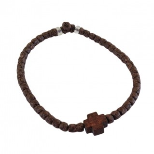 Prayer Rope Bracelet ~ Komboskini ~ Chotki - Brown with Brown Cross